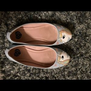 TUK brand unicorn & hearts flats. Size 8.